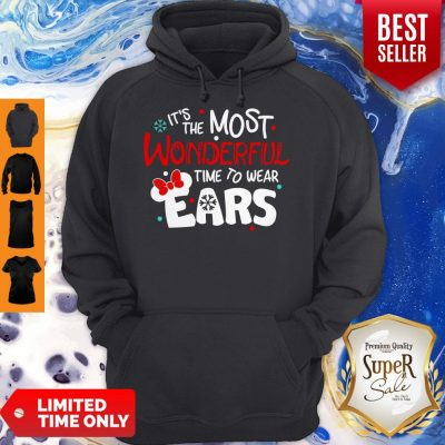 Premium Disney Minnie Mouse It's The Most Wonderful Time To Wear Ears Hoodie