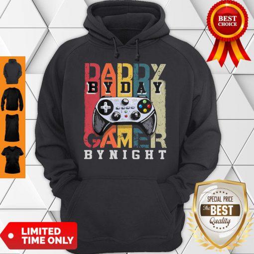 Nice Daddy By Dad By Night Gamer Vintage Hoodie