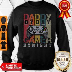 Nice Daddy By Dad By Night Gamer Vintage Sweatshirt