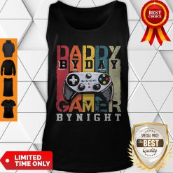 Nice Daddy By Dad By Night Gamer Vintage Tank Top