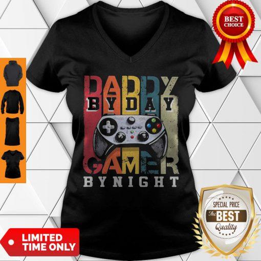 Nice Daddy By Dad By Night Gamer Vintage V-neck