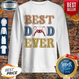 Nice Game Best Dad Ever Happy Father's Day Vintage Sweatshirt