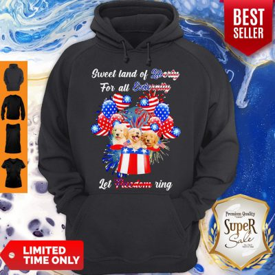 Nice Golden Retrievers Sweet Land Of Liberty For All Eternity Let Freedom Ring American Hoodie