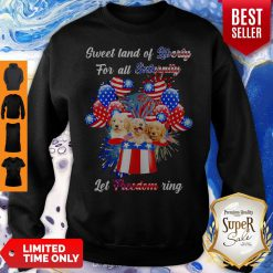 Nice Golden Retrievers Sweet Land Of Liberty For All Eternity Let Freedom Ring American Sweatshirt