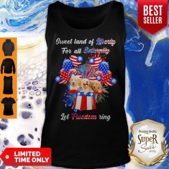 Nice Golden Retrievers Sweet Land Of Liberty For All Eternity Let Freedom Ring American Tank Top