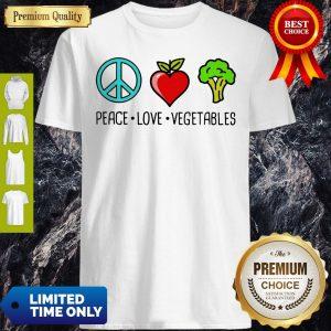 Nice Peace Love Vegetables Shirt