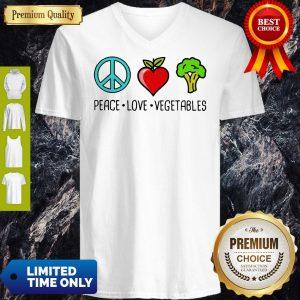 Nice Peace Love Vegetables V-Neck