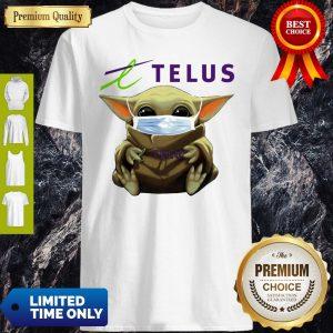 Nice Star Wars Baby Yoda Hug Telus Mask Covid-19 T-Shirt