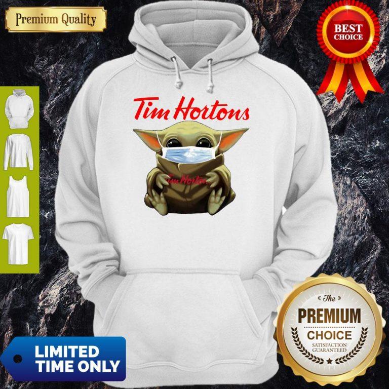 Nice Star Wars Baby Yoda Hug Tim Hortons Mask Covid-19 Hoodie
