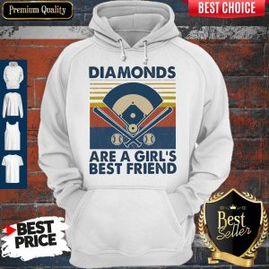 Official Baseball Diamonds Are A Girl's Best Friend Vintage Hoodie