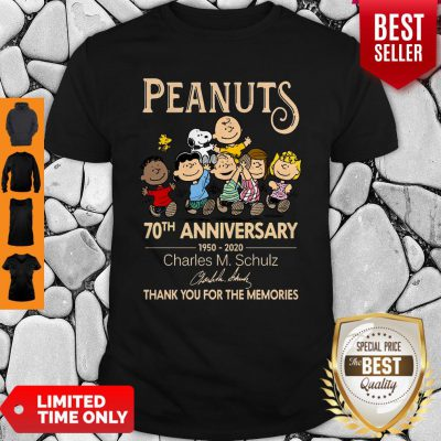 Official Peanuts 70th Anniversary 1950-2020 Charles M Schulz Snoopy Shirt