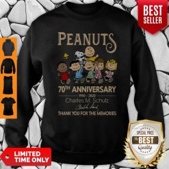 Official Peanuts 70th Anniversary 1950-2020 Charles M Schulz Snoopy Sweatshirt