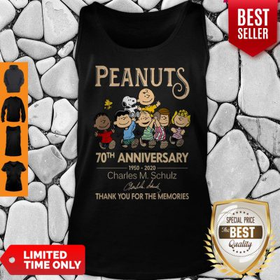Official Peanuts 70th Anniversary 1950-2020 Charles M Schulz Snoopy Tank Top