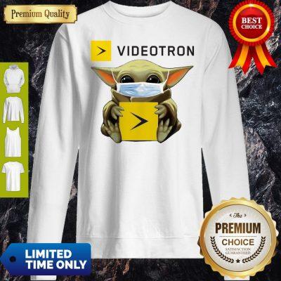 Official Star Wars Baby Yoda Hug Videotron Mask Covid-19 Sweatshirt