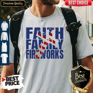 Original Faith Family Fireworks Shirt