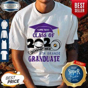 Perfect Name Here Class Of 2020 Quarantined 8th Grande Graduate Purple Shirt