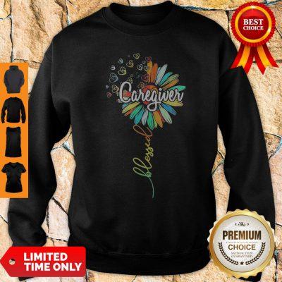 Perfect Sunflower Blessed Caregiver Sweatshirt
