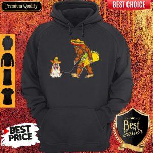 Premium Bigfoot Sasquatch Walking Pitbull Dog Hoodie