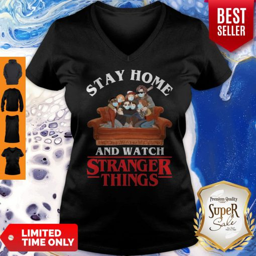 Premium Stay Home And Watch Stranger Things V-neck