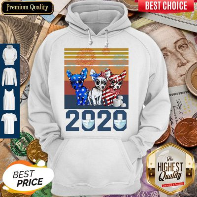 Pretty Chihuahua Independence Day 2020 Vintage Hoodie