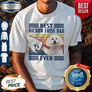 Pretty Poodle Best Bichon Frise Dad Ever Vintage Shirt