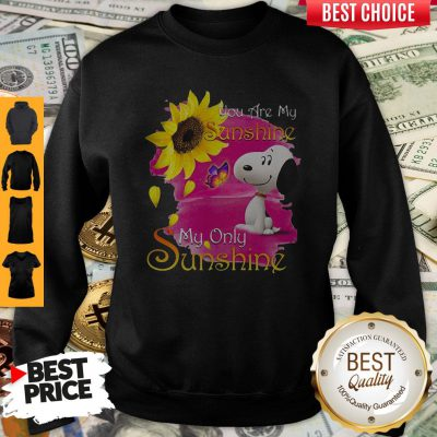 Pretty Snoopy Butterfly Sunflower You Are My Sunshine My Only Sunshine Sweatshirt