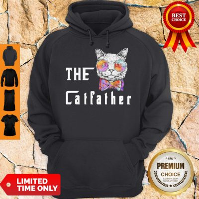 Pretty The Catfather Cat Glasses Hoodie
