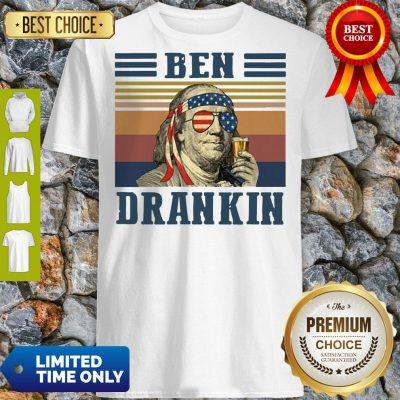 Funny Ben Drankin Vintage Shirt