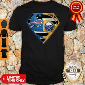 Pretty Superman Buffalo Bills And Buffalo Sabres Shirt