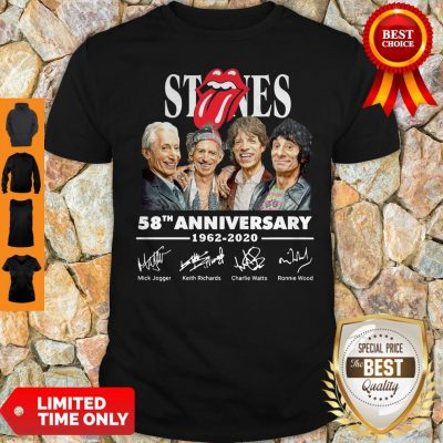 Top Rolling Stones 58th Anniversary 1962 2020 Signatures Shirt