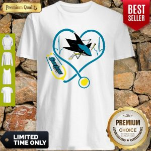 Premium Love San Jose Sharks Heart Stethoscope Shirt