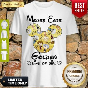 Pretty Mouse Ears Golden Kind Of Girl Shirt
