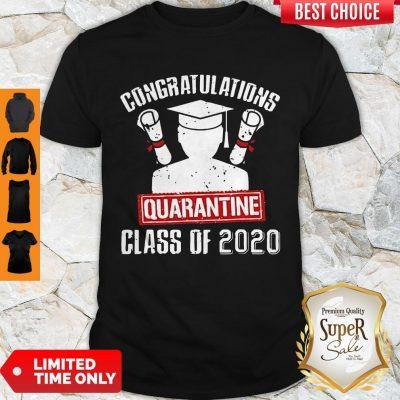 Nice Class Of 2020 Graduating Class In Quarantine Vintage Tee Shirt