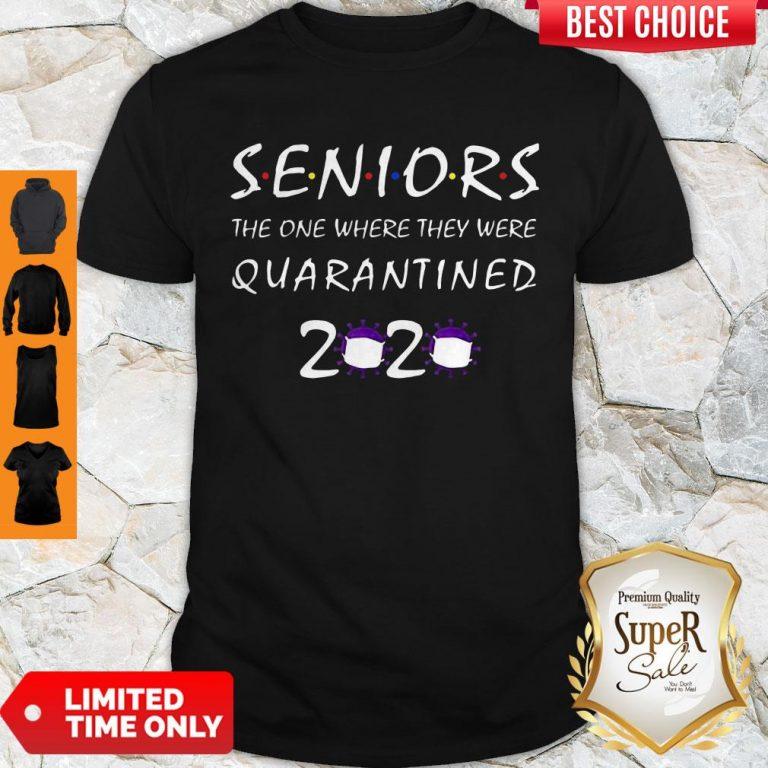 Nice Class Of 2020 Graduation Senior Funny Quarantine Tee Shirt
