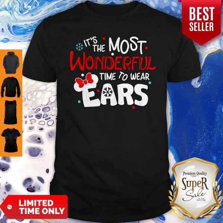 Premium Disney Minnie Mouse It's The Most Wonderful Time To Wear Ears Shirt