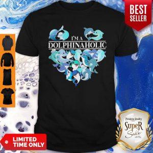 Pretty I'm A Dolphin Aholic Heart Shirt