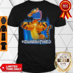 Nice Tiger Quarantined American Flag Mask Disney Shirt
