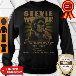 Funny Stevie Wonder 70th Anniversary 1950-2020 Signature Thank You For The Memories Sweatshirt