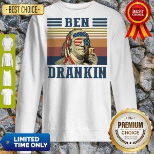 Funny Ben Drankin Vintage Sweatshirt