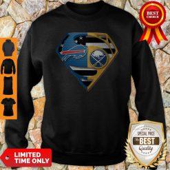 Pretty Superman Buffalo Bills And Buffalo Sabres Sweatshirt