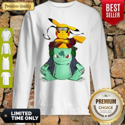 Pretty Pikachu Bulbasaur Pokemon Naruto Parody Sweatshirt
