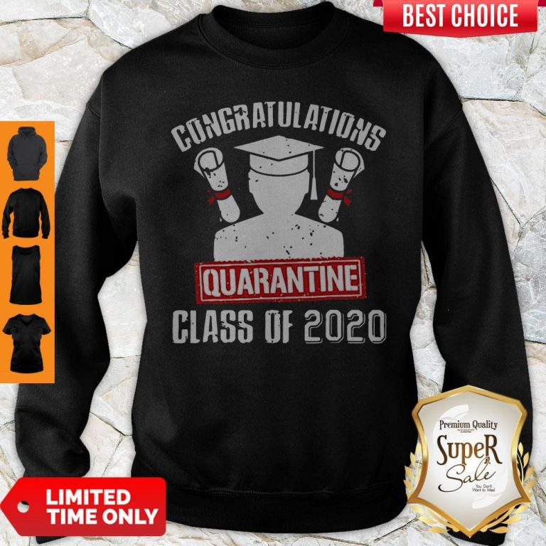 Nice Class Of 2020 Graduating Class In Quarantine Vintage Sweatshirt