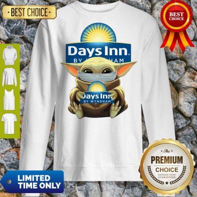 Pretty Baby Yoda Mask Hug Days Inn By Wyndham Sweatshirt