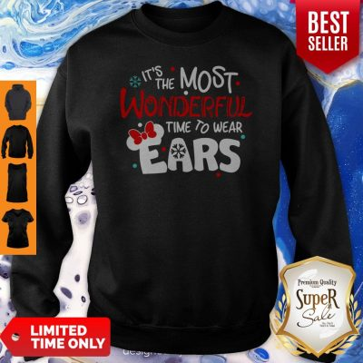 Premium Disney Minnie Mouse It's The Most Wonderful Time To Wear Ears Sweatshirt