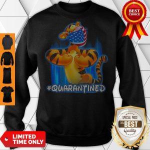 Nice Tiger Quarantined American Flag Mask Disney Sweatshirt