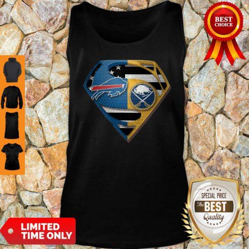 Pretty Superman Buffalo Bills And Buffalo Sabres Tank Top