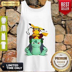 Pretty Pikachu Bulbasaur Pokemon Naruto Parody Tank Top