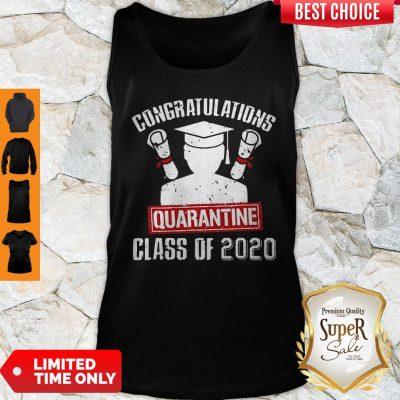 Nice Class Of 2020 Graduating Class In Quarantine Vintage Tank Top