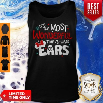 Premium Disney Minnie Mouse It's The Most Wonderful Time To Wear Ears Tank Top