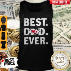 Top Kansas City Chiefs Best Dad Ever Happy Father's Day Tank Top